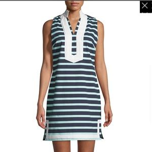 💙SAIL TO STABLE💙 SLEEVELESS STRIPED TUNIC DRESS